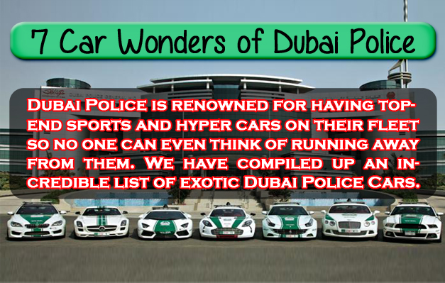 Dubai Police Cars Infographic featured image